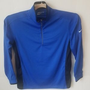 NWOTNike Golf dri-fit Royal blue quartet zip Sz. L